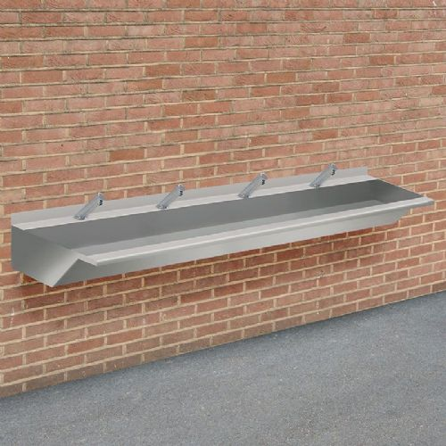 H&L Outdoor 2400mm Stainless Steel Wash Trough with No-Touch Taps